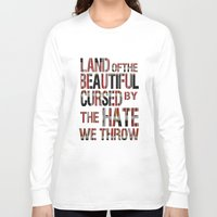 the national Long Sleeve T-shirts featuring National Anthem by Veronica Rogers
