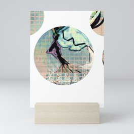 another head going grazzzyyyy by PASTEL Mini Art Print