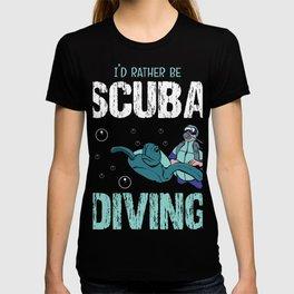 Diving Diver Deep Sea Snorkeling Dive Depth T-shirt