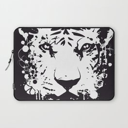white graffiti tiger head Laptop Sleeve