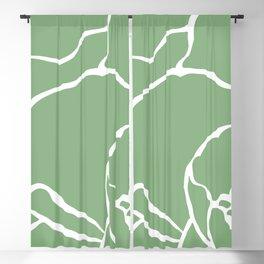 Bold Green Cropped Poppy Pop Art Blackout Curtain