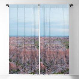 Badlands Blue - Nature Landscape Photography Blackout Curtain