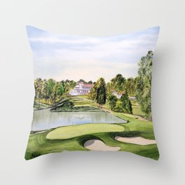 The Congressional Golf Course 10th Hole Throw Pillow