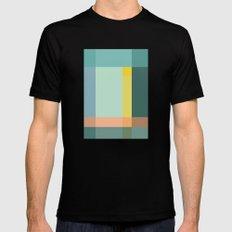 Color Grid Mens Fitted Tee MEDIUM Black
