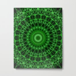 Rich green mandala Metal Print