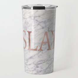 Slay rose gold marble Travel Mug