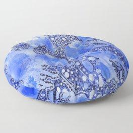 Blue Abstract Floor Pillow