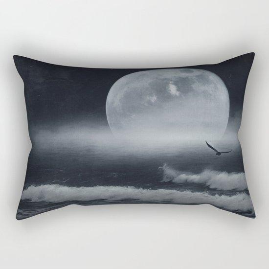 moon-lit ocean Rectangular Pillow