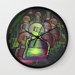 Chess Fantasy I / Eight Pawns in the Game Zone Wall Clock