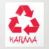 karma Art Prints featuring KARMA by ARTITECTURE