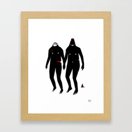Kiss and Make Up Framed Art Print