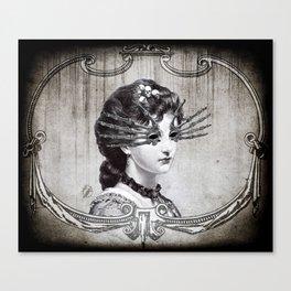 La Femme sans yeux Canvas Print