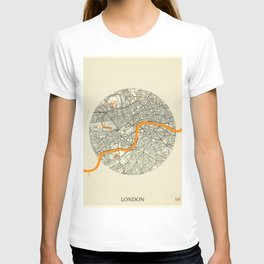 London Map Moon T-shirt