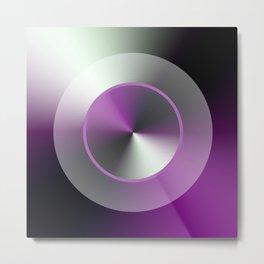 Serene Simple Hub Cap in Purple Metal Print