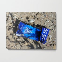 Discarded Cigarette Package Metal Print