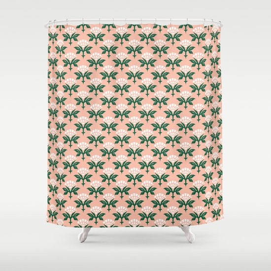 Ajrak Woodblock Floral Print by beckybailey1