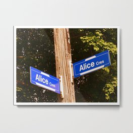 Alice, A gift for Alice  Metal Print