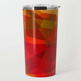 Mixed color Poinsettias 1 Abstract Polygons 3 Travel Mug