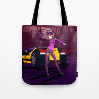 grand theft auto Tote Bags featuring Grand Theft Autobot 2 by 88bullets