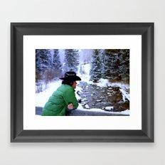 Aspen Cowboy Framed Art Print