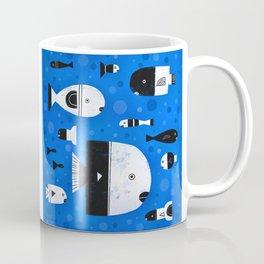 BLACK & WHITE FISHES Coffee Mug