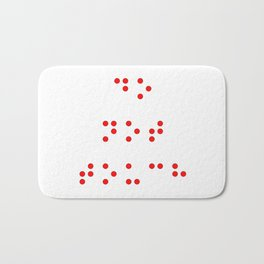Do Not Touch in Braille in Red Bath Mat