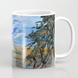 Peach Tree Valley, Impressionism landscape, modern impressionism Coffee Mug