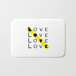 LOVE yourself - others - all animals - our planet Bath Mat