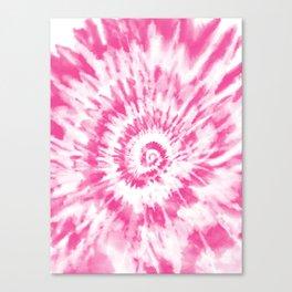 Light Pink Tie Dye Canvas Print