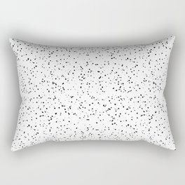 Speckles I: Black on White Rectangular Pillow
