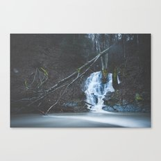 Emerging waterfall after the flood Canvas Print