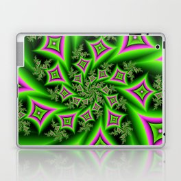 Green And Pink Shapes Fractal Laptop & iPad Skin