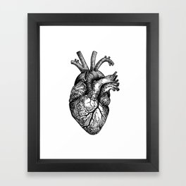 Inky Breaky Heart Framed Art Print