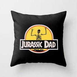 Jurassic Dad Skeleton Funny Birthday Gift Throw Pillow