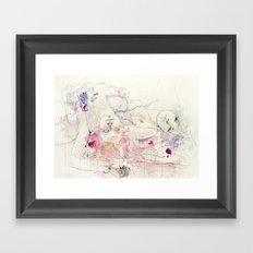 in bloom, each growing petal is an internal wound Framed Art Print
