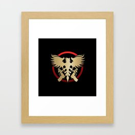 Phoenix with pistols emblem Framed Art Print