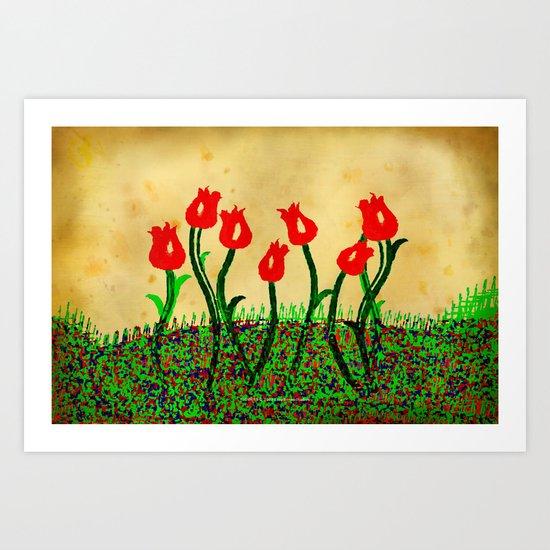 FLOWERS 015 Art Print