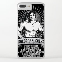 Gym Fitness Motivation Success Rules Bodybuilding Clear iPhone Case
