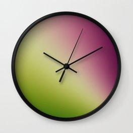 Gradient Colours: Green Purple Wall Clock