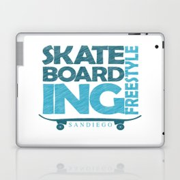 Skateboarding Freestyle San Diego Laptop & iPad Skin