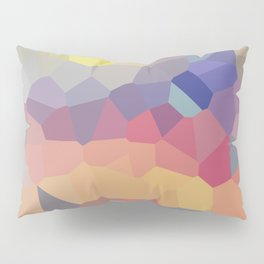Pastel Geometric Moon Rise Pillow Sham