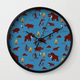 Stone age - Fabric pattern Wall Clock
