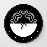 moonrise Wall Clocks featuring MOONRISE by THE USUAL DESIGNERS