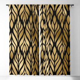 Havana Sultry Night Gold and Black Art Deco Blackout Curtain