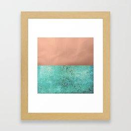 NEW EMOTIONS - ROSE & TEAL Framed Art Print