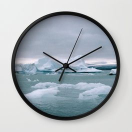 ICELAND WITH ICEBERGS IS INCREDIBLE ICY Wall Clock