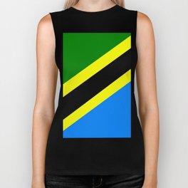 Flag of Tanzania Biker Tank