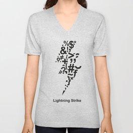 Lightning Strike Unisex V-Neck