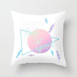 Neon Feels So Good Throw Pillow