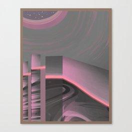 Claraboya, Geodesic Habitacle, Pink neon room Canvas Print